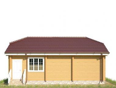 Дачный дом клееный брус под ключ недорого